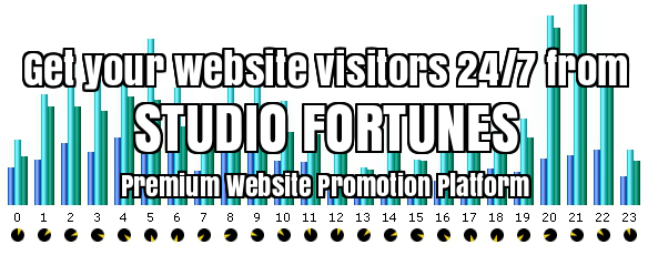 Studio Fortunes Premium Website Promotion Platform. Use Studio Fortunes Premium Website Promotion Platform as your preferred and unique global advertising system. With free Advertising, Tools & Resources to Brand and promote your Business.